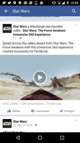 Les vidéos 360 degrés arrivent sur Facebook