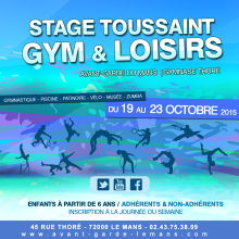 Stage Gym et Loisirs à l'Avant Garde du Mans - toussaint 2015