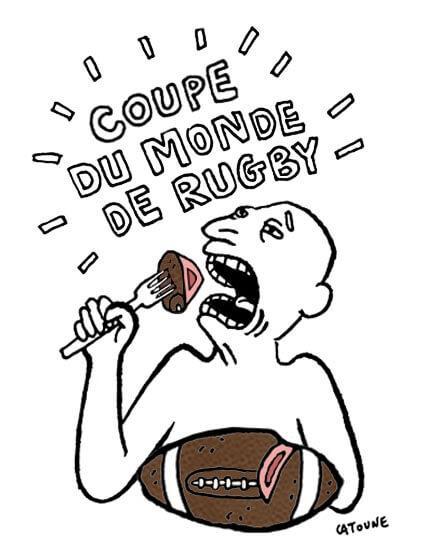 C'est la Coupe du monde de rugby, on l'aura compris…