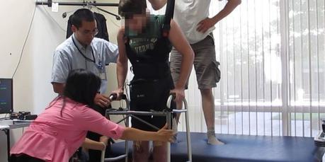 Paraplégique remarche