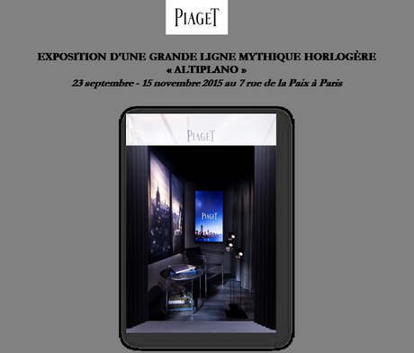 Invitation à découvrir l'exposition Piaget Altiplano au 7 rue de la Paix