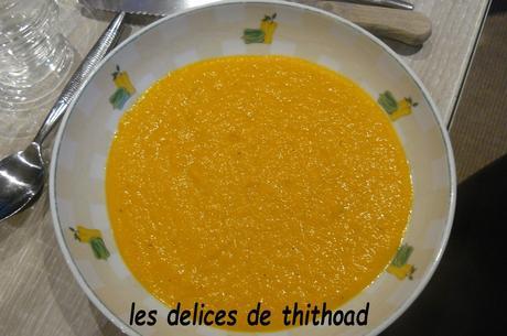 velouté de carottes épicé