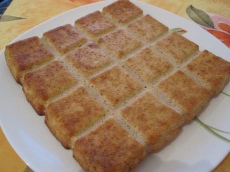 Gâteau aux pommes et aux flocons d'avoine