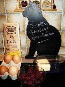 COROLLES CHOCOLAT FRAMBOISES