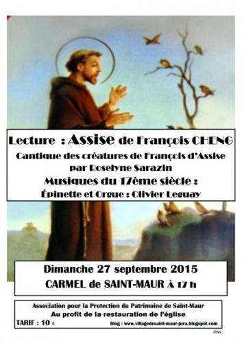 Ce dimanche 27 septembre au Carmel de Saint-Maur : Olivier Leguay (épinette et orgue) et Roselyne Sarazin (lecture)