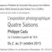 Exposition «Quatre Saisons» Philippe Cadu à Montauban