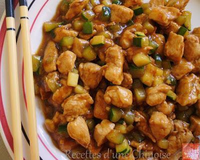 Poulet sauté à la pâte de soja fermentée (huang jiang / doenjang) 酱爆鸡丁 jiàngbào jīdīng