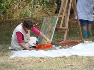 Stage de peinture instinctive dans le Tarn - Rétrospective et programme