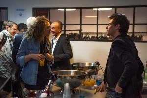 Charlotte, fondatrice de Packnboard.com en discussion avec Clément Hollander, co-fondateur de Shopping Flux