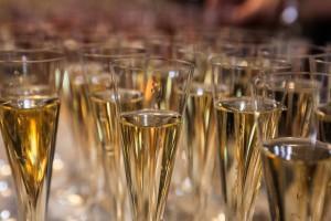 Après la présentation, le Champagne.
