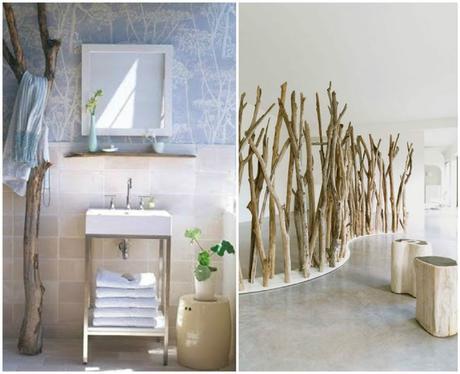 salle de bain et paravent