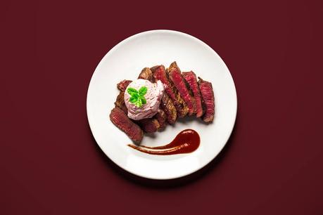 Steak et glace à la fraise