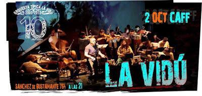 Prochain concert de La Vidú au CAFF [à l'affiche]