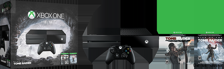 1443446526 xboxone 1tbconsole riseofthetombraider us can groupshot Xbox One : Un Bundle pour Rise of The Tomb Raider  Xbox One Rise of the Tomb Raider bundle