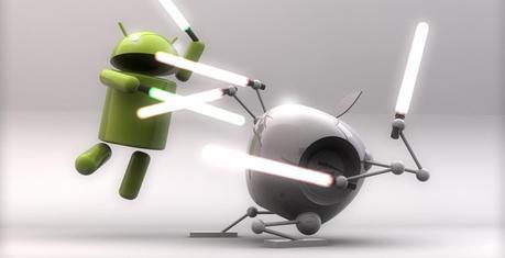 Android vs. iOS : Je lance la serviette