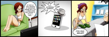 Difficile de résister à l'envie d'un nouvel iPhone? (Image: Jago Dibuja).