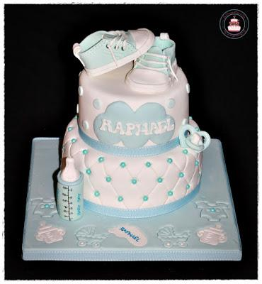G teaux de bapt me et baby shower paperblog - Decoration gateau bapteme fille ...