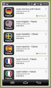 Fabulo: meilleure Android hors ligne pour apprendre langue