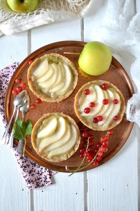Tartelettes crues pomme ~ poire { Vegan & Sans gluten }