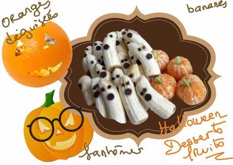 Recette de desserts aux fruits pour halloween bananes - Recette dessert halloween ...
