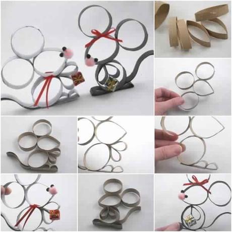voici comment fabriquer des petites souris avec des rouleaux de papier toilette d couvrir. Black Bedroom Furniture Sets. Home Design Ideas