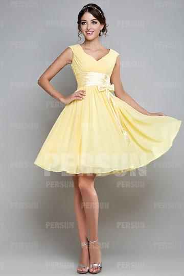 Achat d 39 une robe de demoiselle d 39 honneur courte voir for Robes de demoiselle d honneur pour le mariage d automne en plein air