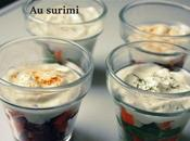 Verrines saumons betteraves surimi