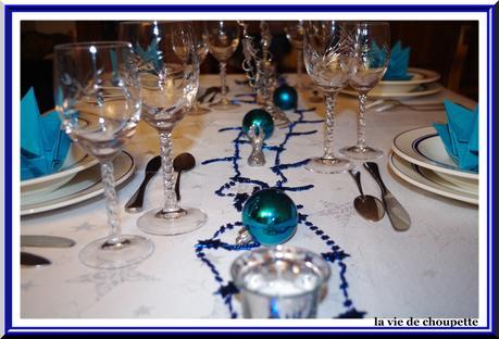 Table noel bleu argent 2015 lire - Deco table noel bleu argent ...