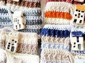 Petit village Cozy Projet crochet Housse tasse laine