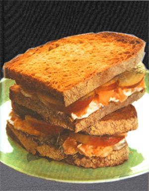 sandwich au saumon fum au th et au gingembre voir. Black Bedroom Furniture Sets. Home Design Ideas