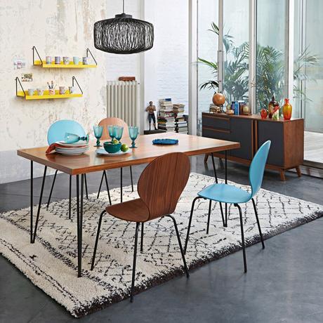 la tendance d co scandinave vintage blanc bois rotin pastel noir blanc jaune moutarde bleu. Black Bedroom Furniture Sets. Home Design Ideas