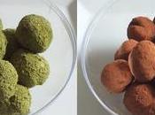 Truffes chocolat avocat deux versions verte (combava matcha) noire
