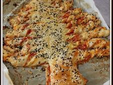 Sapin pizza apéro parce c'est encore l'hiver