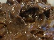 Boeuf oignons poivre noir Beef with onions black pepper