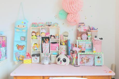 Mon bureau pastel et kawaii paperblog for Bureau kawaii
