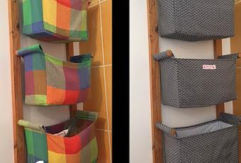 relooking d 39 un rangement paniers ikea paperblog. Black Bedroom Furniture Sets. Home Design Ideas
