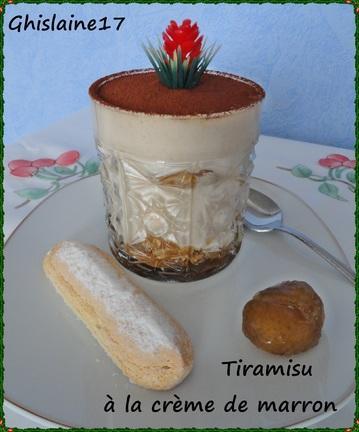 Tiramisu la cr me de marron et brisures de marron glac paperblog - Tiramisu a la creme de marron ...