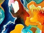 Bulles champagne abstraction quand boisson rencontre peinture