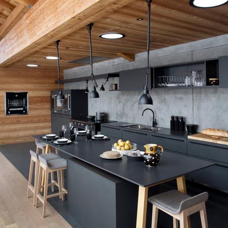 envie de noir dans ma cuisine paperblog. Black Bedroom Furniture Sets. Home Design Ideas