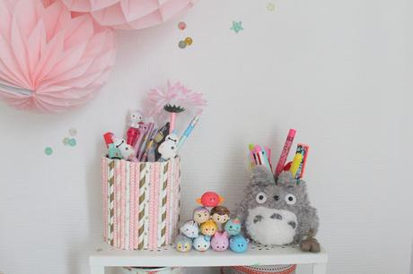 diy un pot crayons original avec des pailles paperblog. Black Bedroom Furniture Sets. Home Design Ideas
