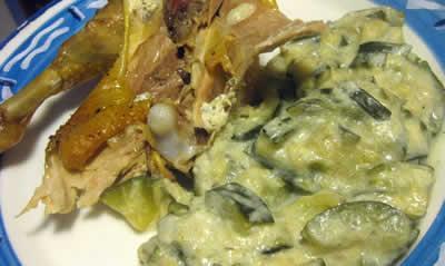 Recette poulet au boursin et courgettes cookeo paperblog - Courgette boursin cuisine ...
