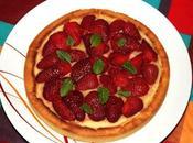 Tarte fraise crème amandine