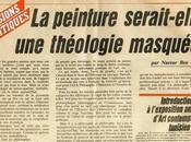 peinture serait-elle théologie masquée L'Action Magazine Janvier 1985