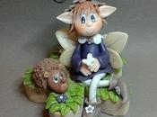 P'tite elfe copain hérisson porcelaine froide