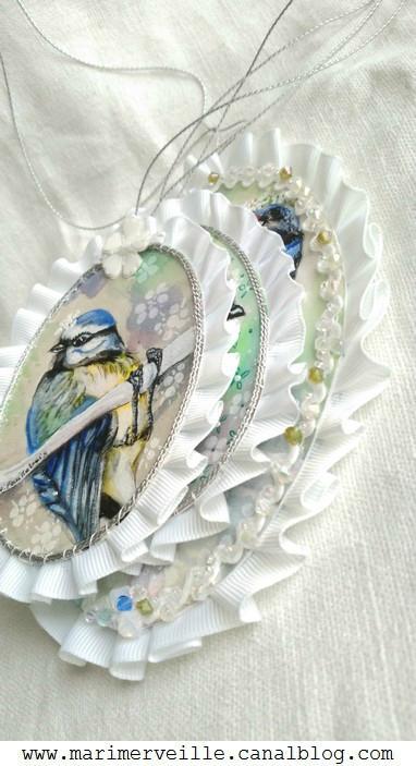 médaillons printaniers marimerveille - 1 birds