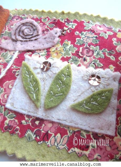 Détails poche aux fleurs carnet balade escargots Marimerveille