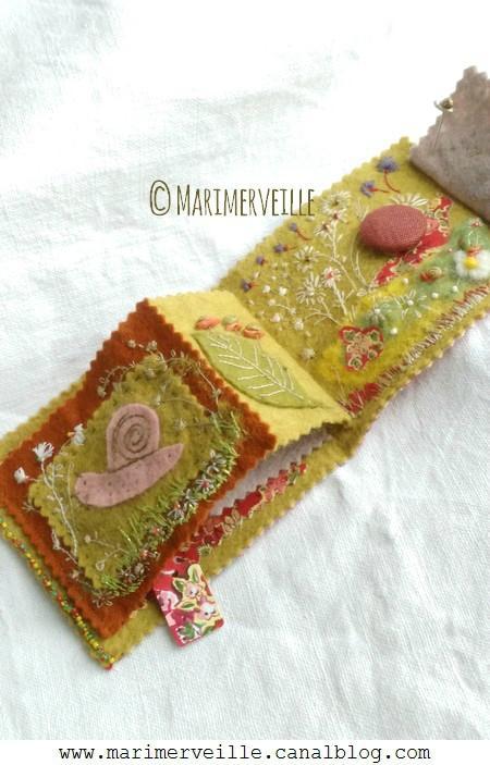 Carnet couture Balade aux escargots 7 © Marimerveille création