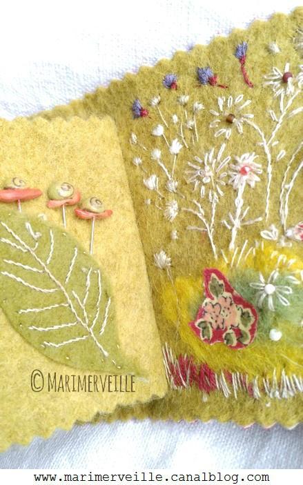 épingles escargots Marimerveille carnet couture