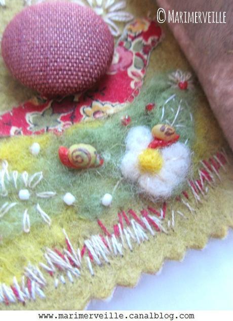 Les petits escargots carnet couture ©Marimerveille