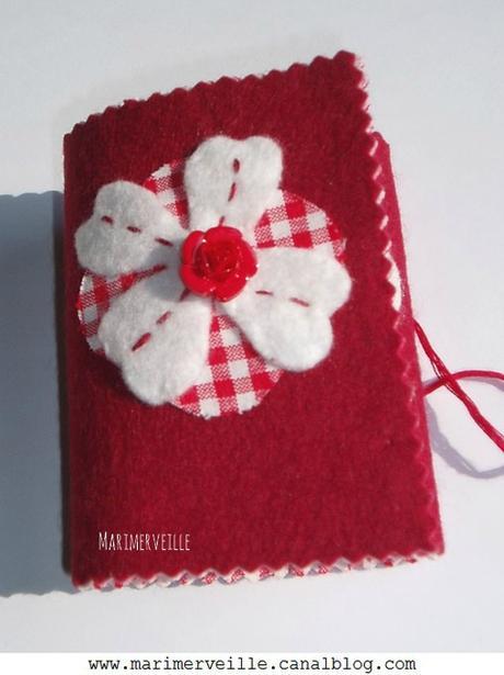 Couverture du carnet vichy aux roses marimerveille
